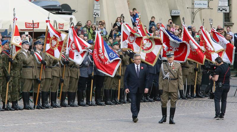 Obchody konstytucji 3 maja w Warszawie fot. Tomasz Gzell/EPA