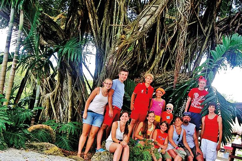 Cała rodzina Eźlakowskich na wakacjach w 2013 roku. fot. archiwum rodzinne