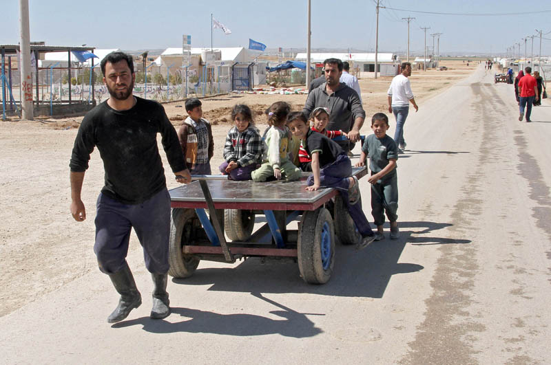 Uchodźcy z Syrii fot.Jamal Nasrallah/EPA