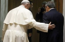 Pope Francis meets Cuban President Raul Castro at the Vatican