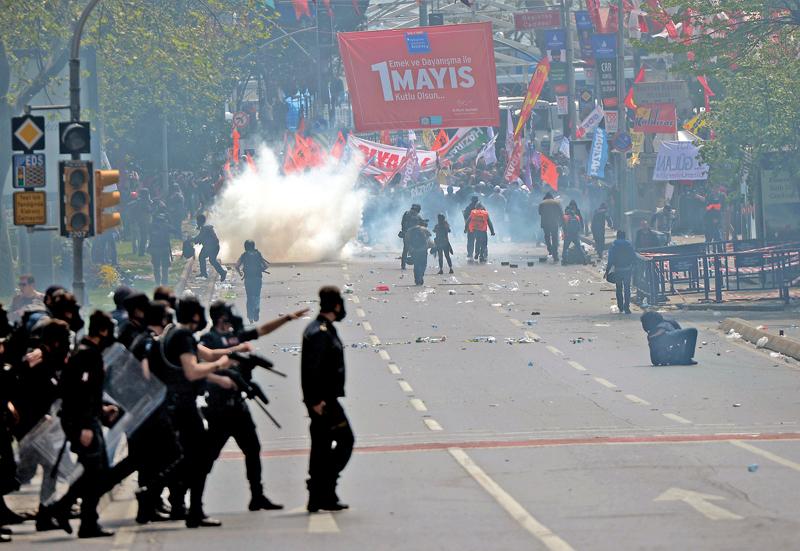 Pierwszomajowe zamieszki w Turcji fot.Deniz Toprak/EPA