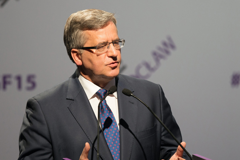 Bronisław Komorowski fot.Maciej Kulczynski/EPA