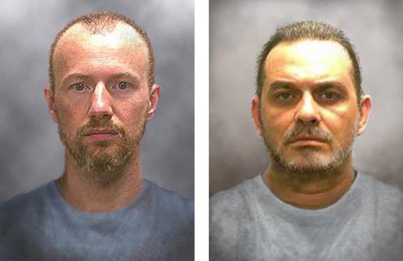David Sweat (z lewej) i Richard Matt (z prawej) fot.New York State Police/Handout/EPA
