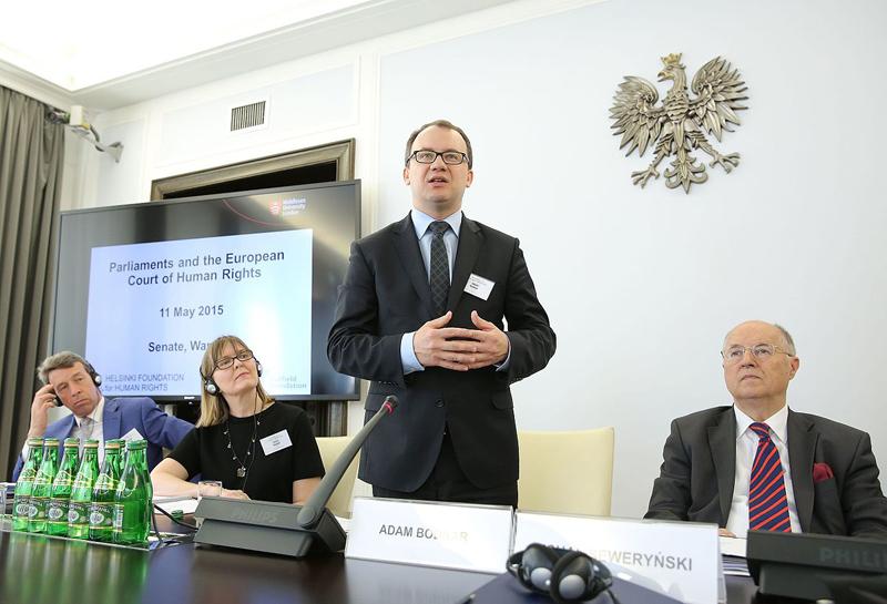 Adam Bodnar (w środku) fot.Michał Józefaciuk/Senat Rzeczypospolitej Polskiej