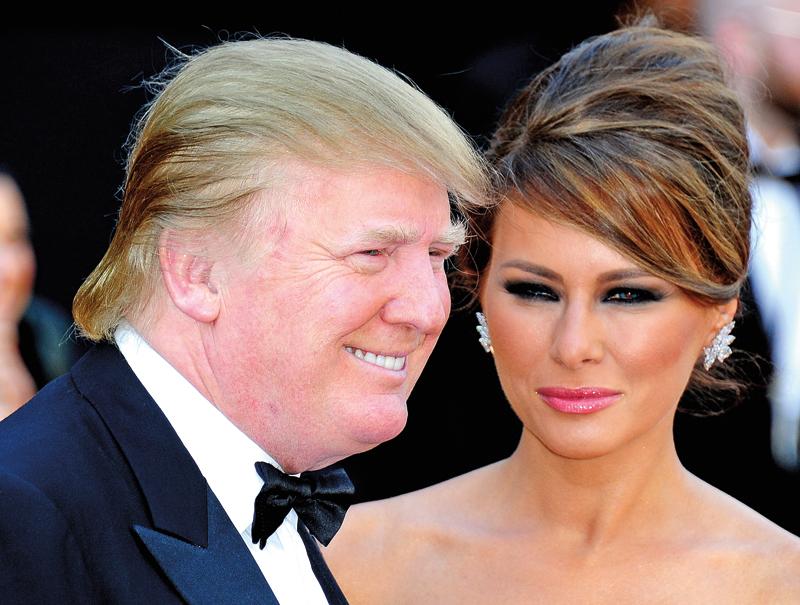 Donald Trump z żoną Melanią fot.Andrew Gombert/EPA
