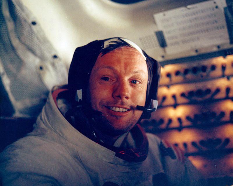 Neil Armstrong w Apollo 11, 20 lipca 1969 r.  fot.NASA/EPA