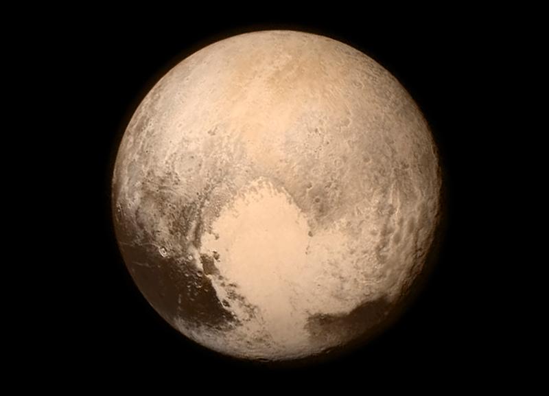 Pluton sfotografoany przez New Horizons fot.NASA/APL/SWRI/EPA