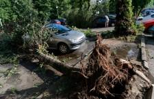 Heavy storm in Poznan