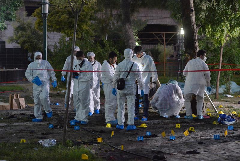 Po eksplozji w Suruc fot.DEPO Photos, Denis Toprak/EPA