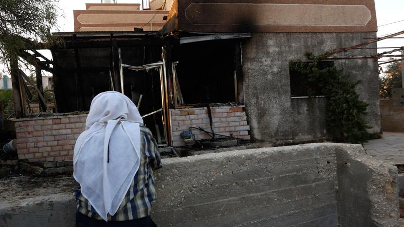 Spalong dom, w którym zginęło dziecko fot.Alaa Badarneh/EPA
