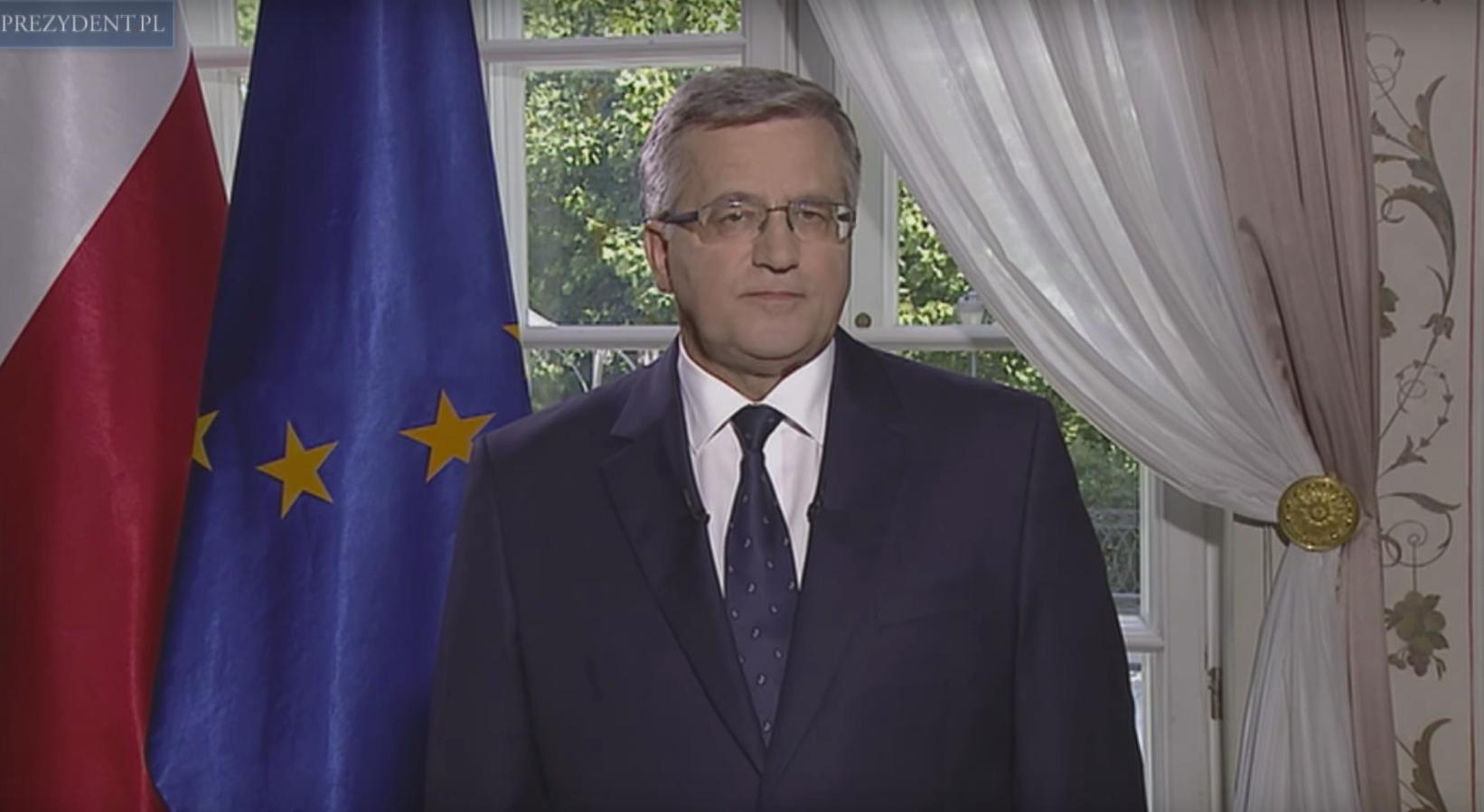 Bornisław Komorowski fot.prezydent.pl/YouTube