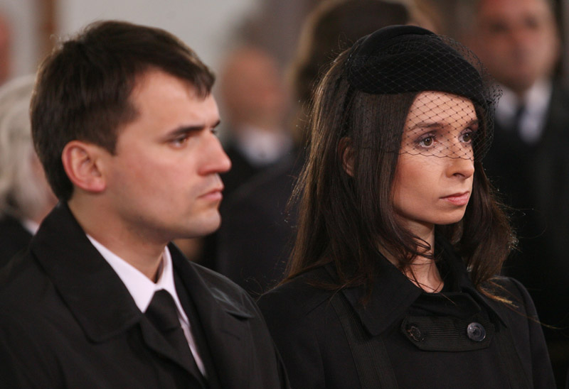 Marcin Dubieniecki z żoną Martą Kaczyńską fot.Radek Pietruszka/EPA