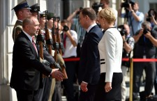 Poland's President Andrzej Duda welcome ceremony in the Presidential Palace