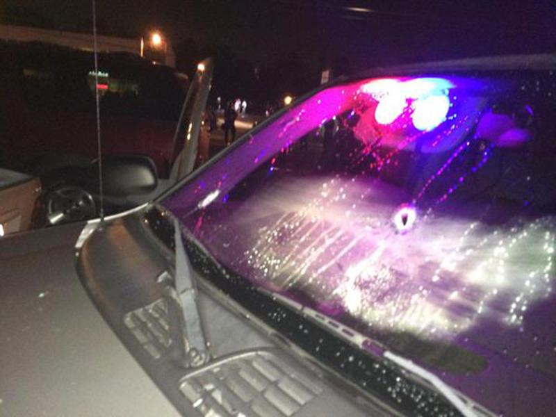 Ślady po kulach  fot.St. Louis County Police/EPA