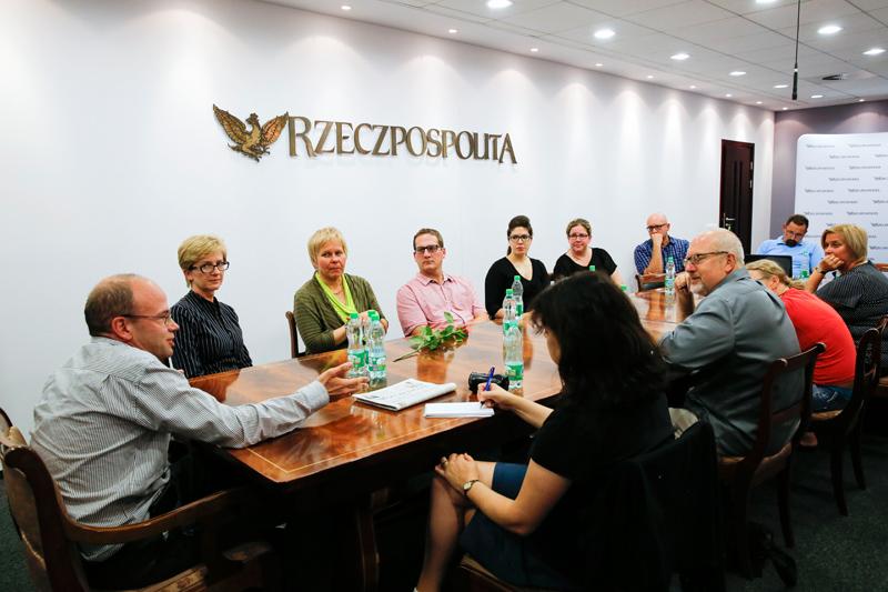Wizyta w redakcji Rzeczpospolitej fot.Nancy Wiechec