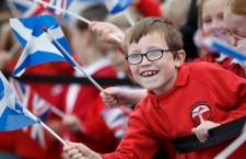 Britain's Queen Elizabeth II opens new railway in Scotland