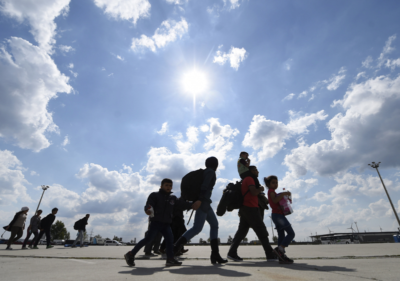 Uchodźcy w Austri fot.Helmut Fohringer/EPA