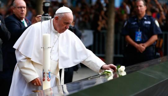 Papież w Ground Zero w Nowym Jorku: bądźmy siłami pojednania i pokoju (ZDJĘCIA)