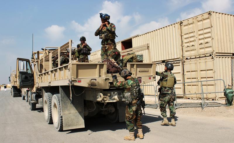 Afgańscy żołnierze w Kunduz fot.Najim Rahim/EPA
