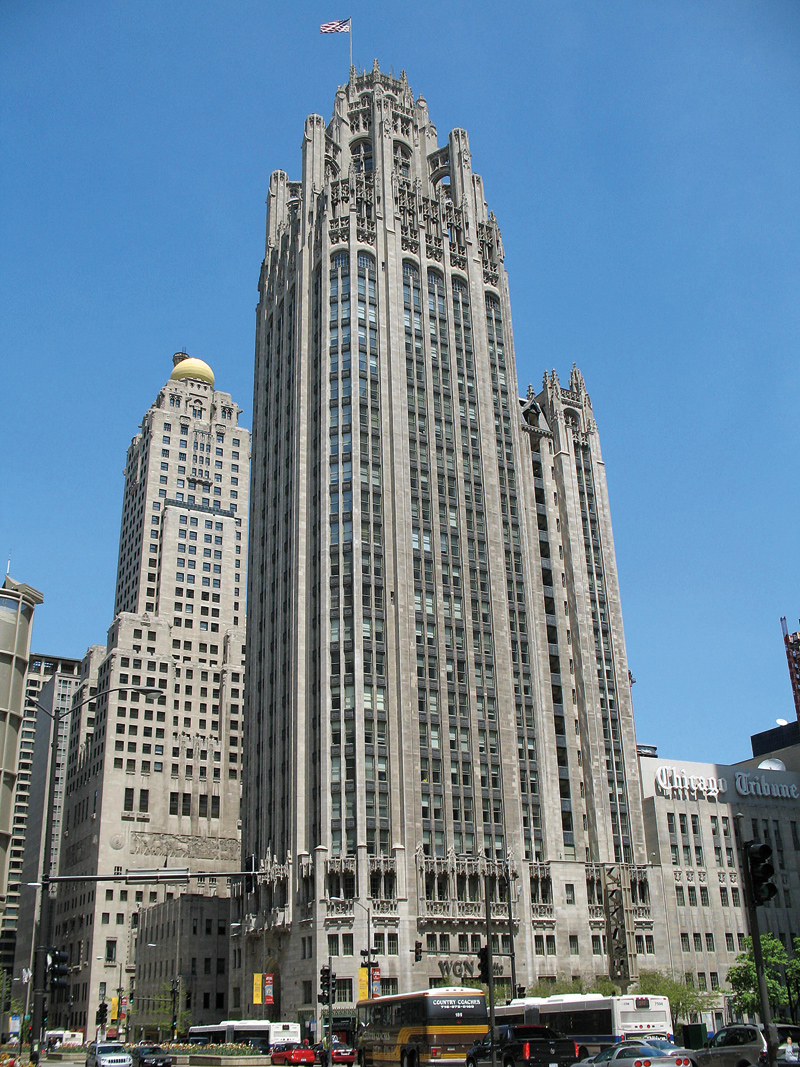 Tribune Tower fot.TonyTheTiger/Wikipedia