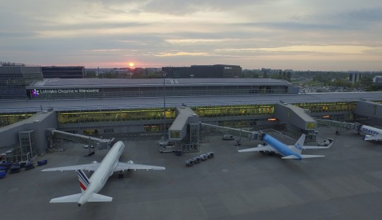 12 months of continuous growth in the number of passengers at Chopin Airport in Warsaw