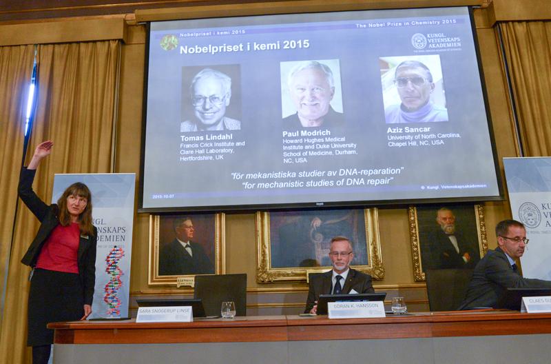 Nagrody Nobla w dziedzinie chemii fot.FredrikSandberg/EPA