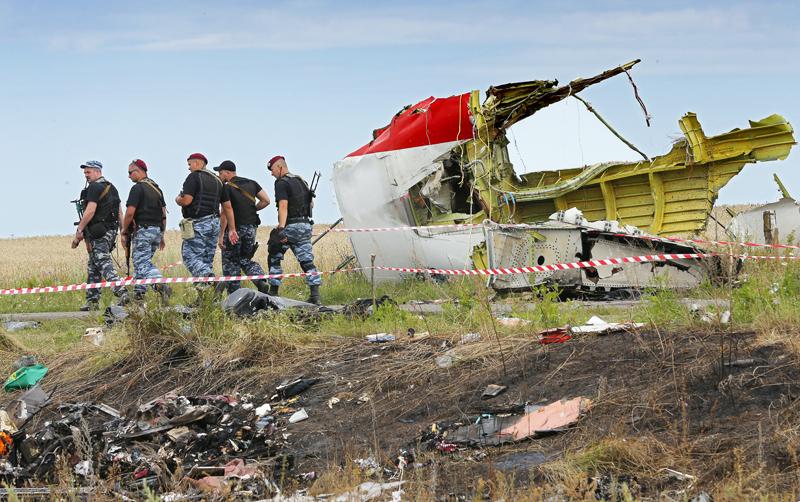 Miejsce katastrofy Boeinga 777 na Ukrainie fot.Robert Ghement/EPA