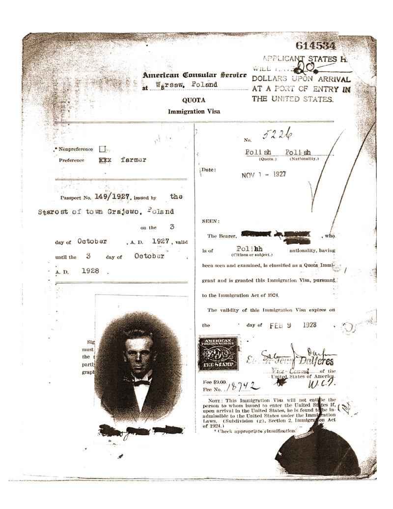 Historyczne wnioski wizowe są dostępne w archiwach urzędu U.S. Citizenship and Immigration Services