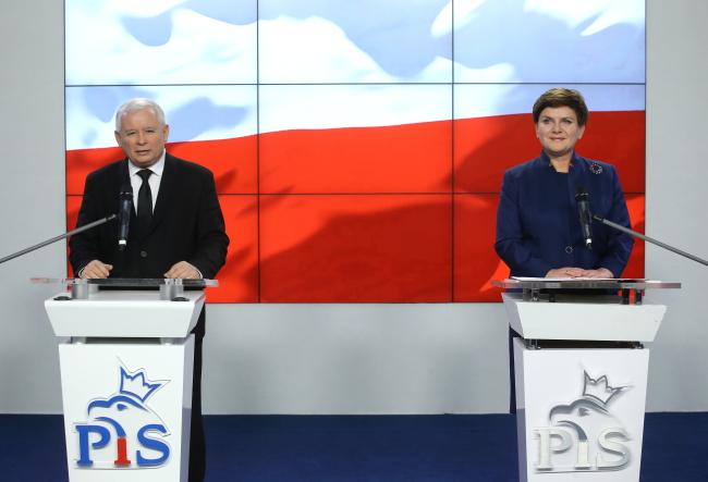 PiS head Jarosław Kaczyński (L) and Beata Szydło (R). Photo: PAP/Paweł Supernak