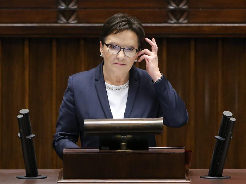 Wystąpienie Ewy Kopacz przed złożeniem dymisji rządu fot.Paweł Supernak/EPA