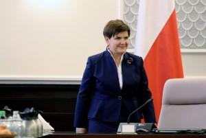 Beata Szydło w kancelarii premiera fot.Leszek Szymański/EPA