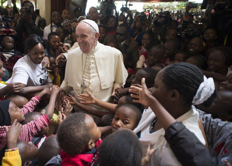 Papież Franciszek w Afryce fot.L'Osservatore Romano/EPA