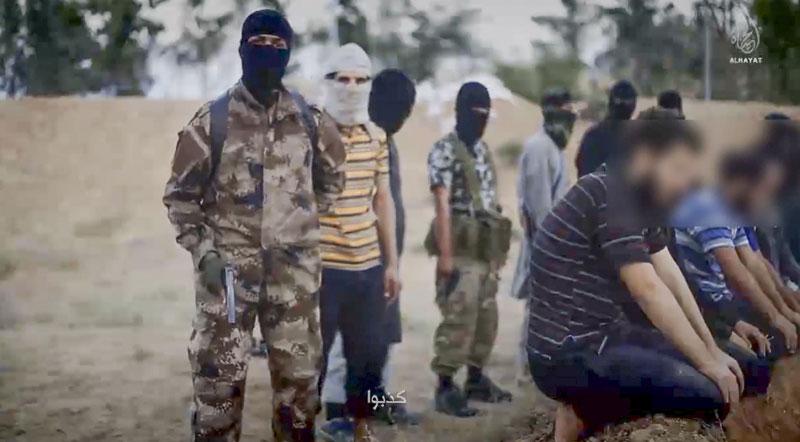 Kadr z propagandowego nagrania IS fot. FBI