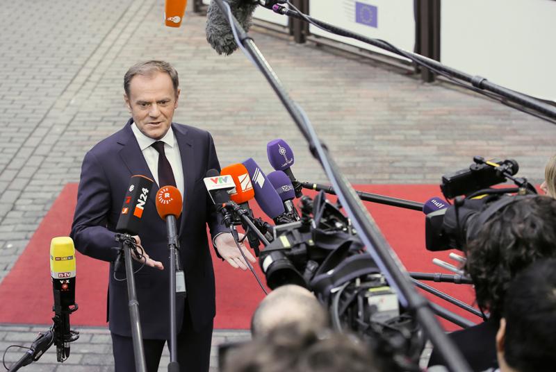 Donald Tusk fot.Olivier Hoslet/EPA