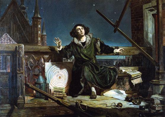 Mikołaj Kopernik na obrazie Jana Matejko fot.Wikipedia