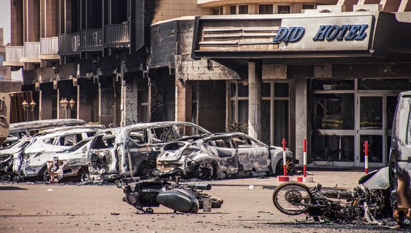 Hotel Splendid po ataku dżihadystów fot. Wouter Elsen/EPA