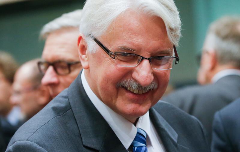 Witold Waszczykowski fot.Olivier Hoslet/EPA