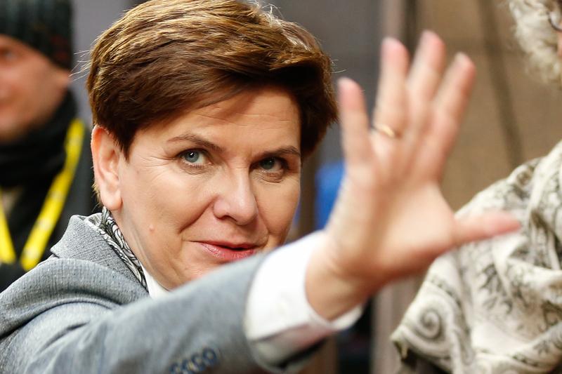 Beata Szydło fot.Laurent Dubrule/EPA