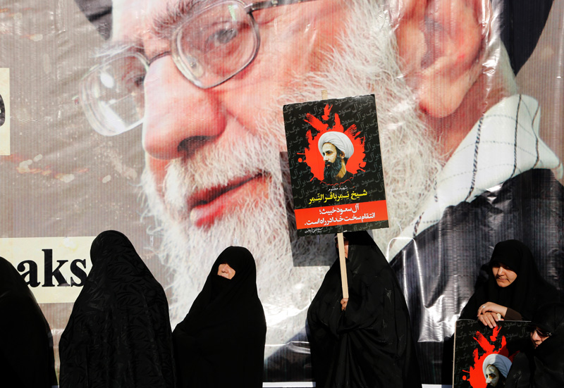 Protest w Teheran fot.Abedin Taherkenareh/EPA