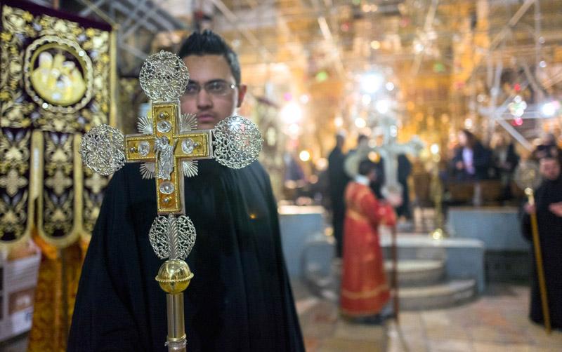 Bazylika Narodzenia Pańskiego w Betlejem fot.Jim Hollander/EPA