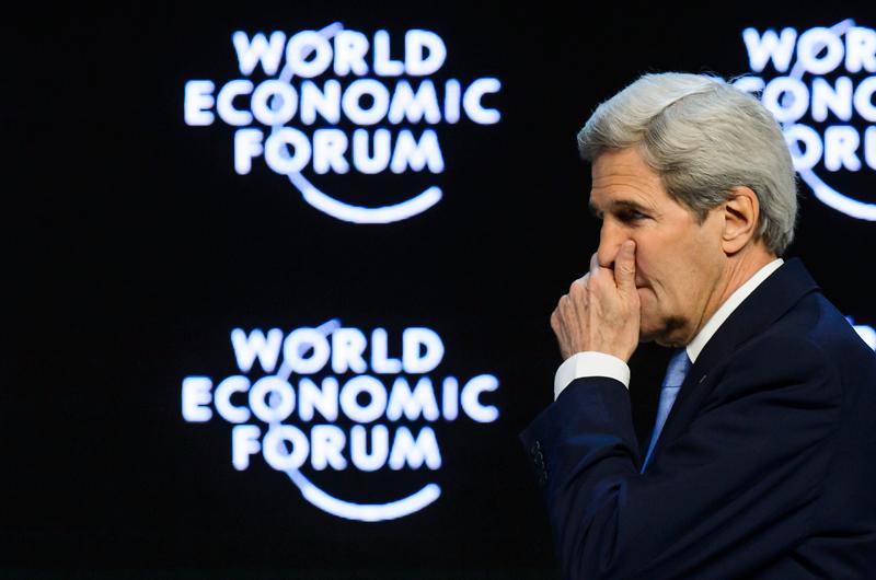John Kerry w Davos fot.Jean-Christophe Bott/EPA