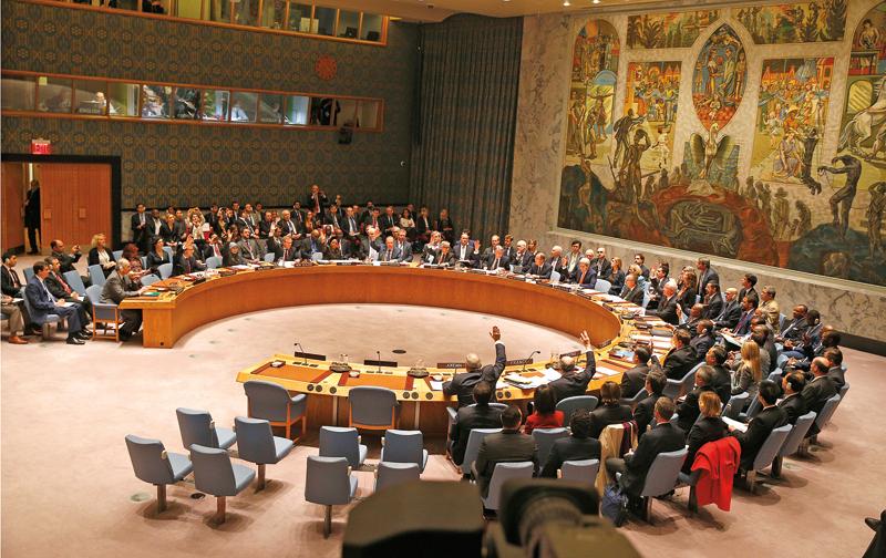 Obrady Rady Bezpieczeństwa ONZ fot.Andrew Gombert/EPA