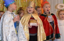 Max, Nicolas i Kuba jako trzej królowie