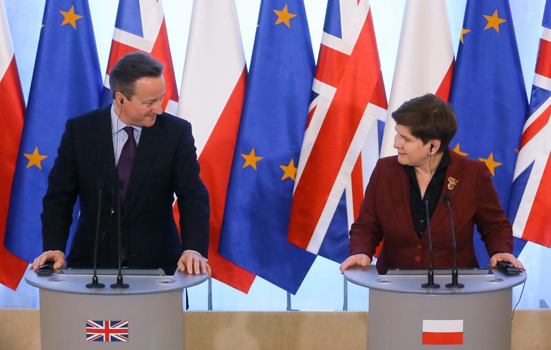 Spotkanie Beaty Szydło z Davidem Cameronem fot.Pawel Supernak/EPA