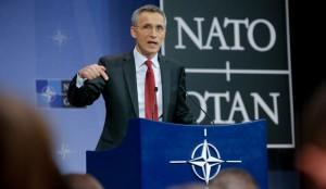 Sekretarz generalny NATO Jens Stoltenberg fot.Olivier Hoslet/EPA