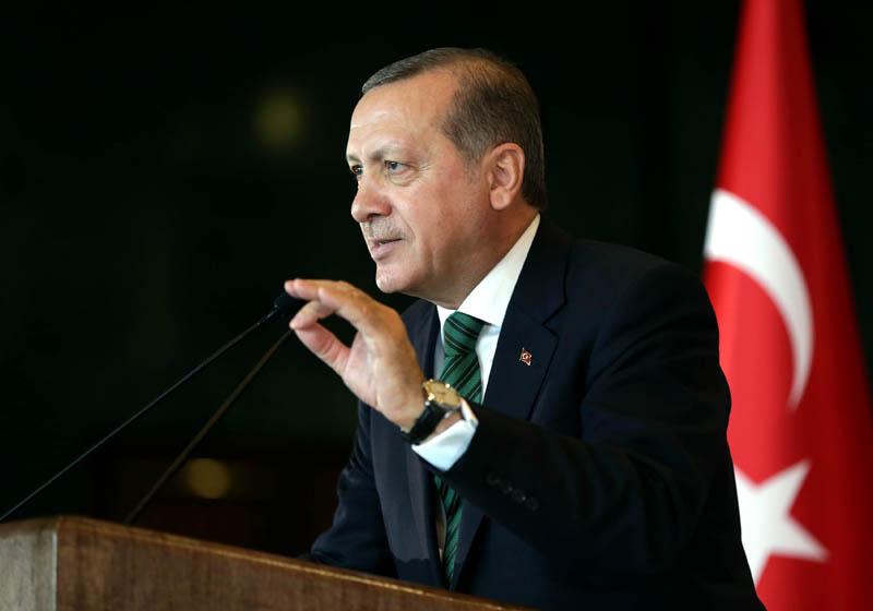 Prezydent Turcji Recep Tayyip Erdogan fot.Turkish Presiden Press Office/EPA
