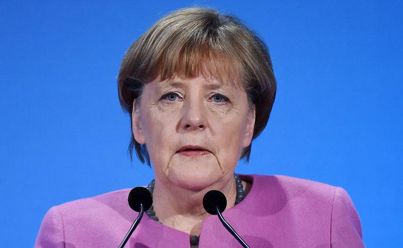 Kanclerz Niemiec Angela Merkel fot. Andy Rain/EPA