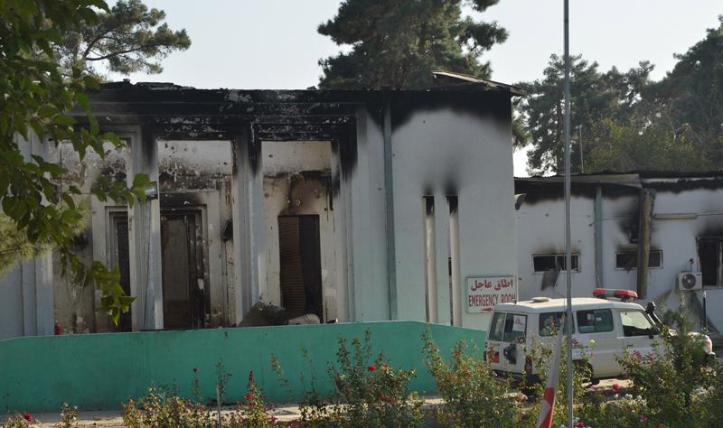 Zbombardowany szpital Lekarzy Bez Granic w Kunduzie (Afganistan) fot.Jawed Kargar/EPA