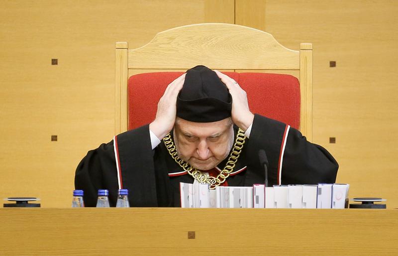 Andrzej Rzepliński, prezes Trybunału Konstytucyjnego fot.Paweł Supernak/EPA