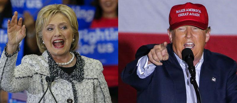 Hillary Trump i Donald Trump triumfowali na Florydzie fot. Eric Lesser/EPA